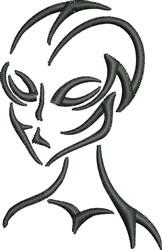 Alien Outline embroidery design