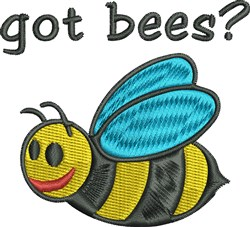 Got Bees embroidery design