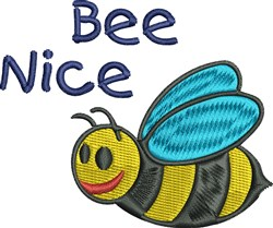 Bee Nice embroidery design