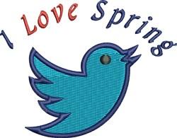 Bluebird Spring embroidery design