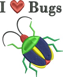 Heart Bugs embroidery design