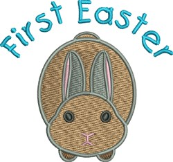First Easter Rabbit embroidery design