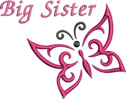Big Sister Butterfly embroidery design