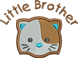 Little Brother Cat embroidery design
