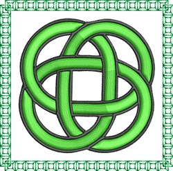 Celtic Square Knot embroidery design