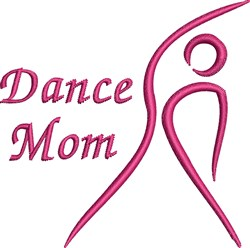 Dancer Mom embroidery design