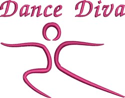 Dancer Diva embroidery design