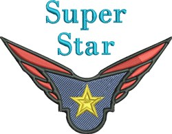 Super Star embroidery design