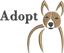 Dog Adopt embroidery design