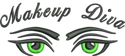 Makeup Diva Eyes embroidery design
