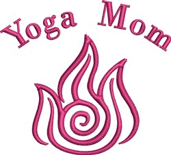 Yoga Mom Fire embroidery design