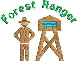Forest Ranger embroidery design