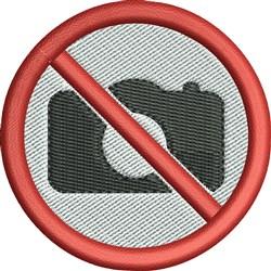 No Photos embroidery design