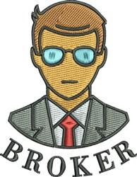 Salesman Broker embroidery design