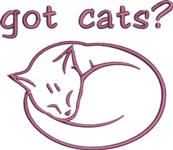 Got Cats embroidery design