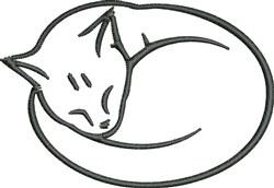 Sleeping Cat embroidery design