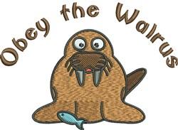 Walrus Obey embroidery design