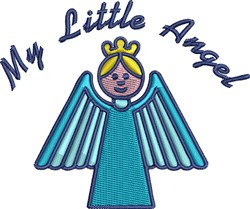 My Little Angel embroidery design