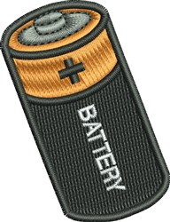 Battery embroidery design
