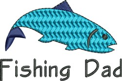 Fishing Dad embroidery design