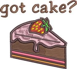 Got Cake embroidery design