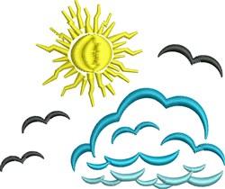Cloud embroidery design