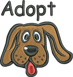 Adopt Dog embroidery design