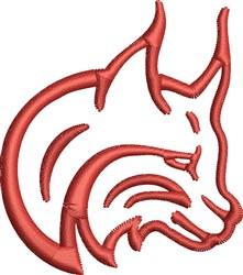 Lynx Head Outline embroidery design