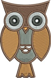 Hoot Owl embroidery design