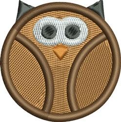 Round Owl embroidery design