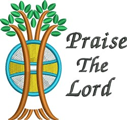Praise The Lord embroidery design