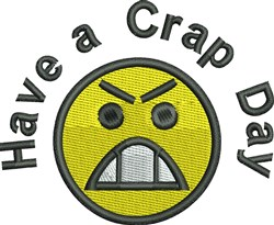 Crap Day embroidery design