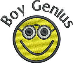 Boy Genius embroidery design
