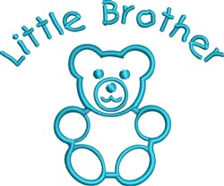 Little Brother embroidery design