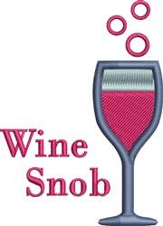 Wine Snob embroidery design