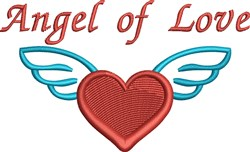Angel Of Love embroidery design