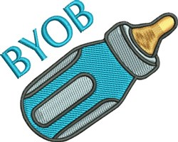 Baby Bottle BYOB embroidery design