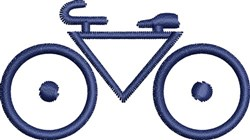 Bike Outline embroidery design