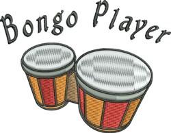 Bongo Player embroidery design