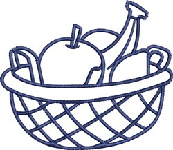 Bowl Of Fruit Outline embroidery design