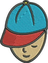 Boy with Cap embroidery design