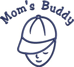 Moms Buddy embroidery design