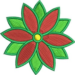 Christmas Flower embroidery design