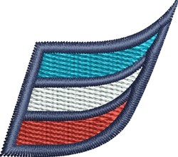 Colorful Swoosh embroidery design
