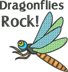 Dragonflies Rock embroidery design