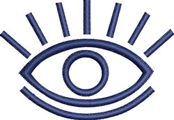 Eye Outline embroidery design