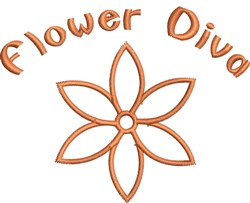 Flower Diva embroidery design