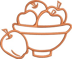 Fruit Bowl Outline embroidery design