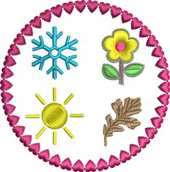 The Seasons embroidery design