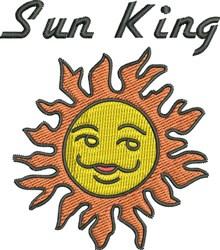 Sun King embroidery design